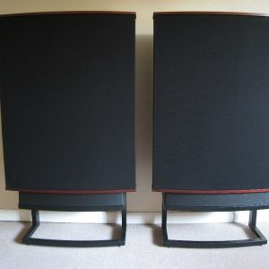 Quad ESL-63 pair on metal stands