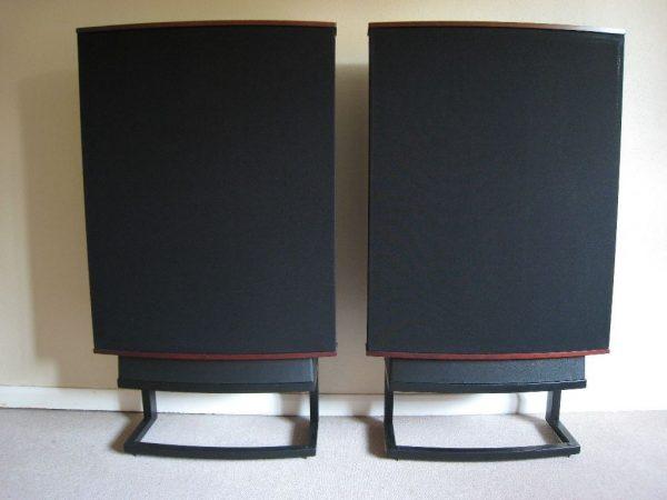 Quad ESL-63 pair on metal stands